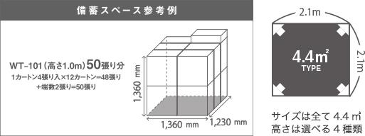 ファミリールーム 備蓄スペースの参考例