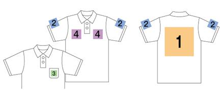 トラス オリジナルポロシャツ プリント印刷範囲