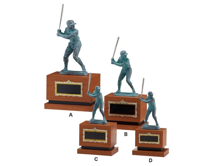 名入れ彫刻 野球ブロンズ像 ASACO B2555 ラインナップ