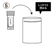 PCR検査 唾液採取用検査キット ステップ⑤